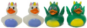 "Set of Four 5.1cm Rubber Duckies ""Fantasy"""