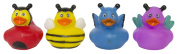 "Set of Four 5.1cm Rubber Duckies ""Buggy"""