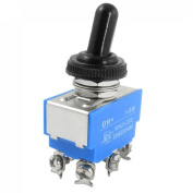 Baomain AC 250V 25A Amps 6 Screw Terminals On/On DPDT Toggle Switch with Waterproof Boot