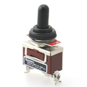 Baomain Toggle Switch ON / OFF / ON Momentary SPDT AC125V 20A with Waterproof Boot CE