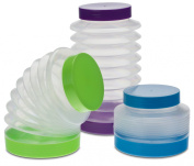 Smart Planet Boing Collapsible Canisters (Set of 3), Blue/Green/Purple
