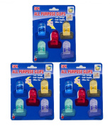 Set of 15 All Purpose 5.1cm x 3.8cm Clips For Food-Crafts-Office Use - Assorted Colours
