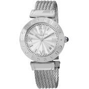 Charriol Women's AMS.16mAlexandre C' Silver Dial Stainless Steel Bracelet Swiss Quartz Watch