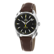 Omega Men's 231.12.42.21.01.001 'Seamaster115m Black Dial Brown Leather Strap Chronograph Swiss Automatic Watch