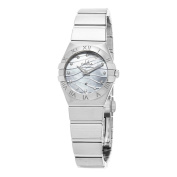 Omega Women's 123.10.24.60.17mConstellation' Mother of Pearl Diamond Dial Stainless Steel Swiss Quartz Watch