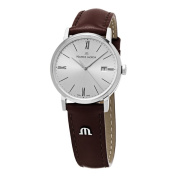 Maurice Lacroix Women's EL1084-SS00.3m - 34mEliros' Silver Dial Brown Leather Strap Watch