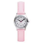 Timex T790819J Kids' Easy Reader Pink Leather Strap Watch