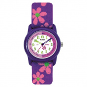 Timex Kids' T89022 Time Teacher Analogue Flowers Elastic Fabric Strap Watch