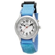 Youth/ Adult Talking Dual-voice Watch with Light Blue Hook and Loop Easy Wraparound Strap