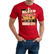 "Kansas City Football ""I Bleed Red & Gold' Red Tee"