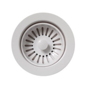 Whitehaus Collection 8.9cm Basket strainer for deep fireclay application-White-RNW50L-W