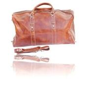 Timmari Italian Leather Large Travel Duffel Bag