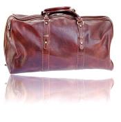 Timmari Italian Leather Medium Travel Duffel Bag
