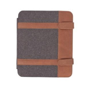 Canyon Outback Paxton Wool and Leather Media Case - Grey and Brown