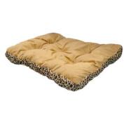 "70cm "" Rectangular Leopard Print Pet Bed"
