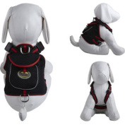 Mesh Pet Harness With Pouch - Black