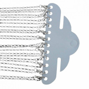 Rockin Beads 12 Pack Silver Plated Lobster Clasp Link Chain Necklaces 60cm