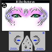 Face Painting Stencil - StencilEyes Elektra - Exotic