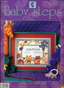 Baby Steps Bright Pastels Birth Announcement Designs for the Needle Counted Cross Stitch Kit 28cm x 36cm Kit 9102 Cat Giraffe Bear Butterflies