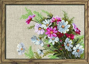 Cosmos Counted Cross Stitch Kit-30cm x 21cm 15 Count