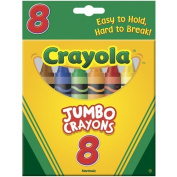 . 8-Pack Crayons - Jumbo (So Big) Size Size, Pack Of 2