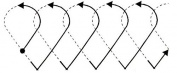 Quilting Creations Heart Interlocking Border Quilt Stencil