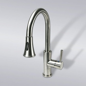 Decor Star TPC11-TB Contemporary 41cm Pull Down Spray Kitchen Sink Faucet cUPC NSF AB 1953 Lead Free Brushed Nickel