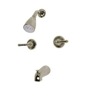 Diverter Tub and Shower Faucet with Modern Lever Handles - Finish