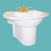 Half Pedestal Sink Wall Mount Bathroom Basin White | Renovator's Supply