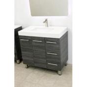 90cm free standing bathroom vanity sink set. Vanities sink Dark Grey
