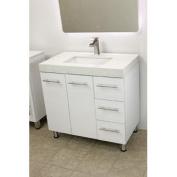 90cm free standing bathroom vanity sink set. Vanities sink White