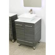 60cm free standing bathroom vanity sink set. Vanities sink Dark Grey