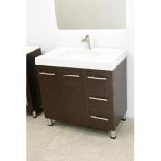90cm free standing bathroom vanity sink set. Vanities sink Brown