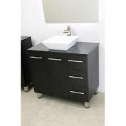 90cm free standing bathroom vanity sink set. Vanities sink Black