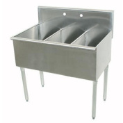 400 Series 3 Compartment Floor Utility Sink Size