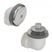 Watco Manufacturing 601-PP-PVC-BN 3.8cm Schedule 40 PVC Piping Push Pull Bath Waste Half Kit, Brushed Nickel