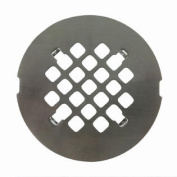 Satin Nickel Round Shower Drain Grate 11cm Replacement Cover - No Tools Required