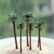 DIY micro landscape mini artificial coconut tree decoration garden flowerpot plant decor