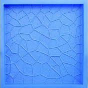 BonWay 32-321 46cm by 46cm Poly Concrete Stone Mould, Cracked Ice Pattern