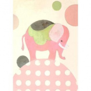 Oopsy daisy ella elephant pink stretched canvas wall art by sally bennett, 10 b.