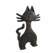 Cast Iron Kitty Cat Door Stop 28cm .