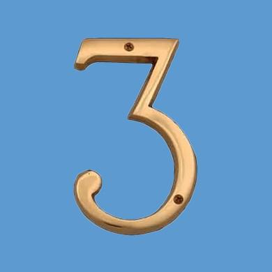 Bright Solid Brass 15cm Address House Number '1.2m   Renovator's Supply