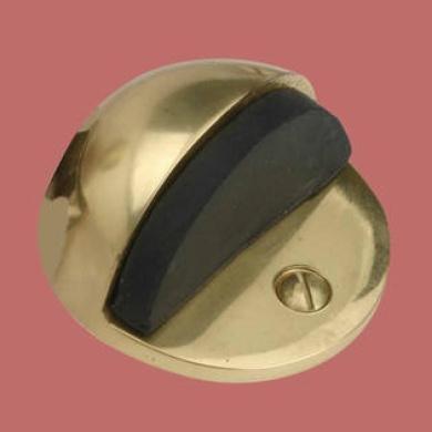 Brass Door Stop Dome Floor Mount Bumper | Renovator's Supply
