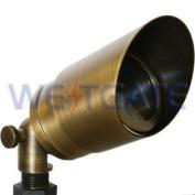 WESTGATE Directional Light, Solid Brass, Mr16 12V 50W, Antique Brass