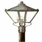 Troy 28956499 Four Light Charred Iron Post Light