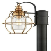Troy 28955682 Troy One Light Aged Brass With Forg Post Light - 782042816145