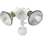Lithonia Lighting OMS 1000 PR2 120 WH M4 150W White Outdoor Par holder with 180-Degree Detection Motion Sensor, White
