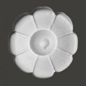 Rosette Applique Medallion White Urethane Decorative Flower   Renovator's Supply