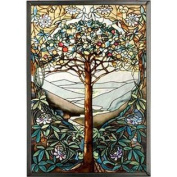 MI Hummel/Glassmasters 23cm by 34cm Tree of Life Stained Glass Panel