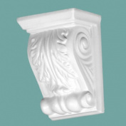 Victorian Wall Fireplace Corbel White Urethane Vintage | Renovator's Supply